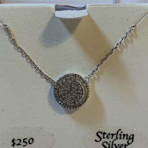 Sterling Silver, Diamond Necklace